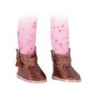 Glitter Girl, Leggings és cipő - Bright Stars